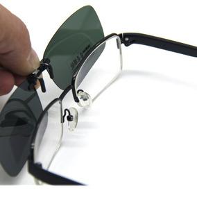 1d07d6b5f39cb Clip On De Sobrepor Óculos De Grau - Proteção Uv400 -verde
