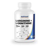 L Arginine L Ornithine 750mg X Capsula 180 Capsulas De Eeuu