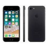iPhone 7 32gb Preto Matte De Vitrine + Capa Brinde
