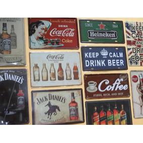 Coleção 11 Placas Metal Decorativas Bebidas Bares Boates