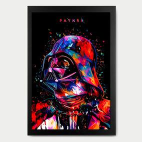 Quadro Decorativo Dath Vader - Psicodélico