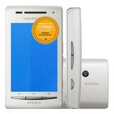 Celular Sony Xperia X8 E15a Single 3g 3.2mp Branco Vitrine 1