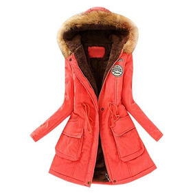 Abrigo Largo Para Frio Invierno Para Mujer Melon Lookatol1