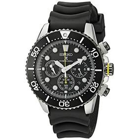 Seiko Hombres Ssc021 Solar Diver Reloj Cronógrafo 9a6ba266fcd