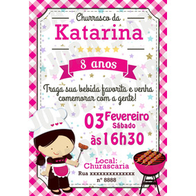 Convite Churrasco De Bebe Arte E Artesanato No Mercado Livre Brasil