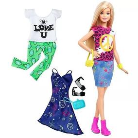 Barbie Fashionistas Peace & Love -boneca Mattel Acessórios
