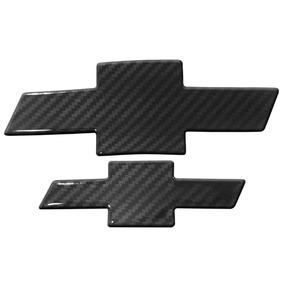 Kit Adesivo Emblema Resinado Carbono Gm S10 Sonic Spin