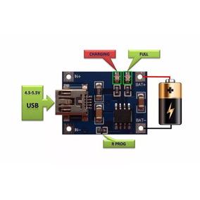 3 Módulo Carregador De Baterias De Lítio Tp4056 Arduino Uno