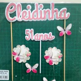 Topo Bolo Flores - Artesanato no Mercado Livre Brasil a299227259168