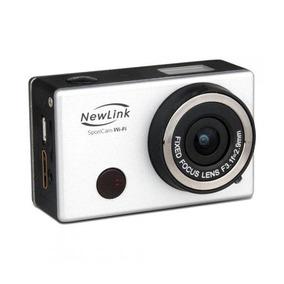 Câmera De Ação Sportcam Wifi Prata 8mp Full Hd Fs101 Newlink