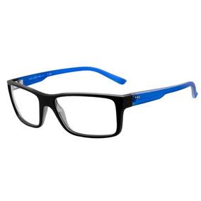 Armação Oculos Grau Hb Polytech 9302465933 Preto Fosco Azul 3fba95164e