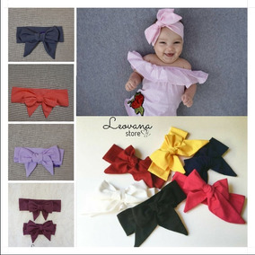 Moño Jumbo Headband Headwrap Bebés Y Niñas