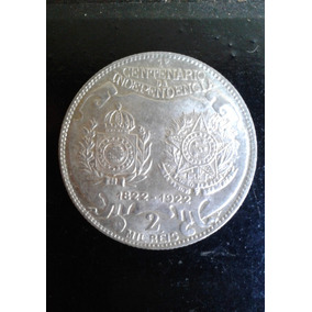 Arremate 1922 Republica 2000 Reis Prata 900 26mm 8g Sb+