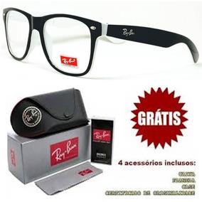 Armacao Rayban Oculos Feminino Masculino Grau Quadrado Barat cc7529b079