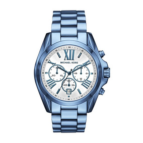 Relogio Feminino Azul Floral Michael Kors - Relógios De Pulso no ... 97faba8b08