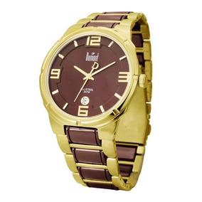 0f19a42b0ce Relogio Dourado Unissex Dumont - Relógios De Pulso no Mercado Livre ...