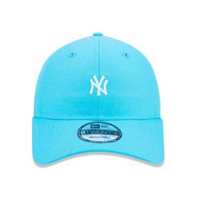 37dbb87ec8 Boné Aba Curva New Era 920 Ny Yankees Azul Claro Ajustável