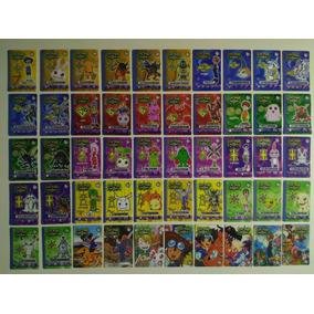 Coleção Completa 50 Cards/ Tazos Digimon (lig-mon - 2001)
