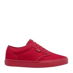 Tenis Bajo Hombre vans Color Rojo Textil Ur473 A 48eb71a7919