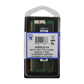 Memória 4gb Ddr3l -1600mhz 1.35v Low Voltage Kingston Note