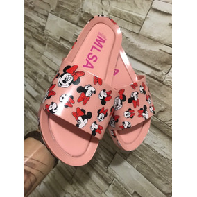Sandalia Melissa Beach Nova Estampa 2019 Minnie Mouse Verão