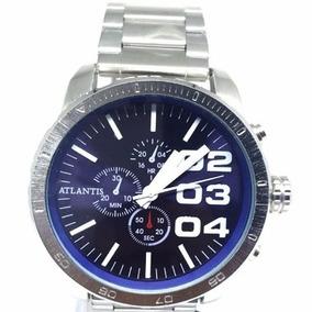 88254a53819 Relógio Atlantis - Fundo Azul Masculino - Relógios De Pulso no ...