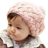 Bebé De Punto Sombrero Boina Bola Peluda Caliente Invierno 972d4987af3
