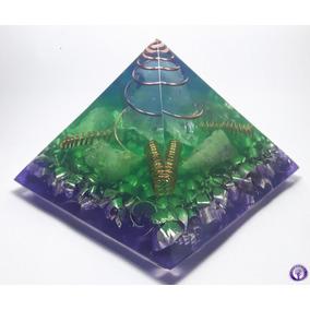 Orgonite Piramide Com Quartzo Rosa Tam. G
