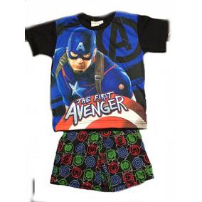 Pijamas Spiderman Hombre Araña Capitan America Lic. Marvel