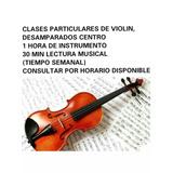 Clases Particulares De Violín Y Lectura Musical
