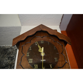 Reloj Madera Tipo Cucu Antiguo Clasico Pared Casita
