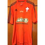 Camisa Palmeiras Usada Jogo 2014 Autografada Goleiros