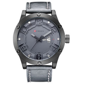Relógio Masculino Curren 8251 Analógico Cinza Com Nf