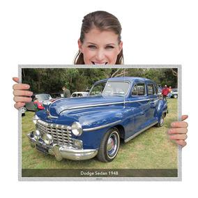 Placa Decorativa Carros Antigos Dodge Sedan 1948 (tam. A2)