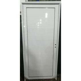 Puerta Exterior Aluminio Ciega 80x200 Pesada36mm Teknosur.