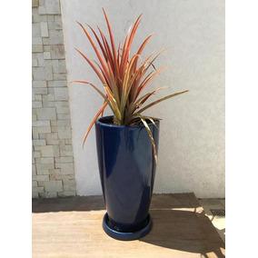 Vaso Decorativo Estilo Ceramica Vietnamita Vitrificado 67cm