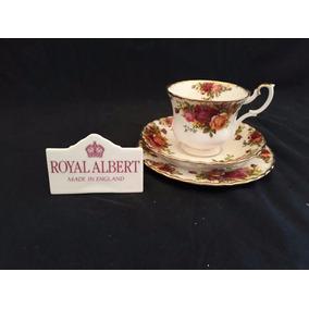 Royal Albert Trio Xícara De Chá Old Country Roses - England