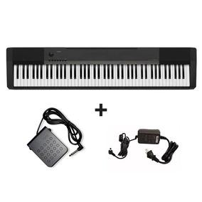 Piano Digital Casio Cdp-130bk + Fonte + Pedal Sustain