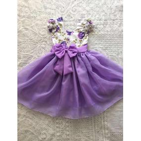 b4534a3044 Vestido Infantil Casual - Vestidos Meninas Violeta no Mercado Livre ...