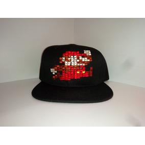 Gorra Plana. Mario Bros. Píxeles. Bordado 2d Pixel. Snapback a109d281bea