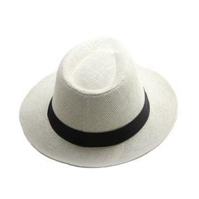 Sombrero Panama En Color Blanco Y Marron - Mercadolider
