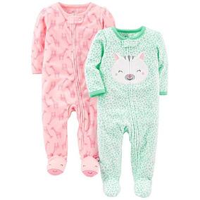 Set 2 Mamelucos De Pijama Para Su Bebe Niña 2 Marca Carters