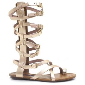 Sandália Cravo E Canela Gladiadora | Zariff