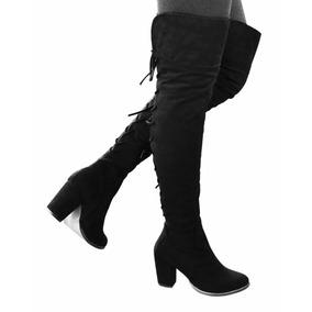 Botas Largas Mujer Tacon 8 Altas Abajo Rodilla 2070 Negro
