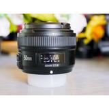Lente Yongnuo Para Nikon 50mm 1.8f Nuevo