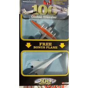 Corgi 100 Anos De Vôo Das Aeronaves Boing Clipper E Concorde
