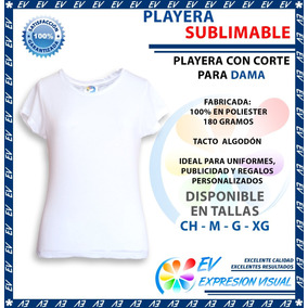 Playera Sublimacion Tacto Algodón Colormake Dama 12 Pzs
