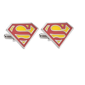 Mancuernillas Superman Gemelos Superheroe