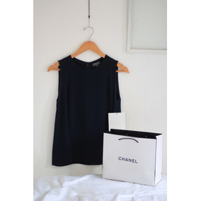 Blusa Sin Mangas Chanel Boutique Vintage