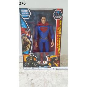 Boneco Gigante Super Homem 35cm Articulado, Luz, Som